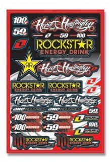 One Industries Rockstar Energy/H & H Decal Sheet