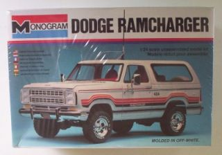 4x4 Dodge Ramcharger Vintage Monogram 1 24 SEALED Model Kit Truck SUV