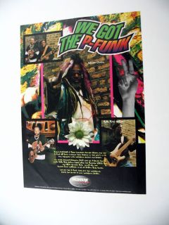 Washburn Guitars George Clinton P Funk 1997 Print Ad