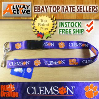 Clemson Tigers Detachable team logo keychain lanyard NCAA University