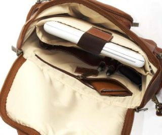 clairechase portofino leather laptop backpack