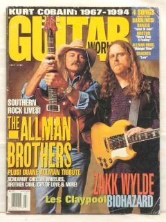 Guitar World Magazine The Allman Brothers Les Claypool