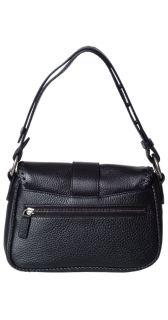 CHRISTIAN DIOR Black Gaucho Embossed Leather Handbag Purse NEW