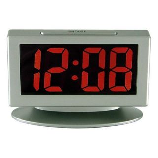 Digital Alarm Clock 1 8 LED Snooze Large Display