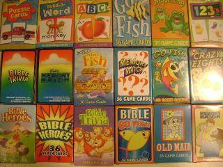New Family Children Bible Christian Card Games Trivia Go Fish Memory