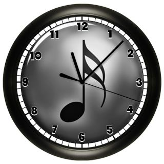 MUSIC NOTE WALL CLOCK MUSICAL GIFT DECOR MUSICIAN DECOR PIANO TEACHER