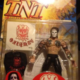 Toy Biz WCW TNT Vampiro w Fabric T Shirt Tattoo Action Figure 2000 WWE