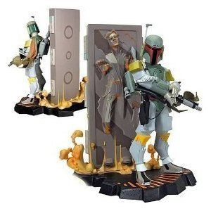Star Wars Clone Wars Boba Fett Han Solo in Carbonite Maquette Limited
