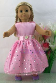 Doll Clothes Outfits Fot 18 American Girl Dolls Set New LASD14