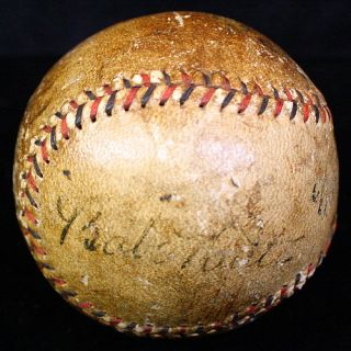 Babe Ruth Lou Gehrig Signed Autographed Baseball Ball JSA