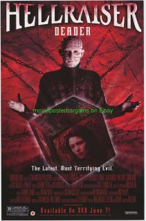 Hellraiser Deader Movie Poster 27x40 Orig Clive Barker