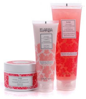 Perlier Cherry Blossom 3 Piece Bath Body Kit Shower Hand Body Sold Out