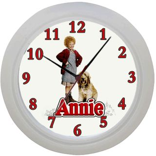 Framed Wall Clock Orphan Annie The Movie Fan Ideal Gift Bedroom