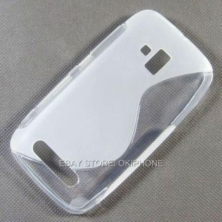 Clear TPU Gel Soft Case Back Cover Skin for Nokia Lumia 610 RM 835