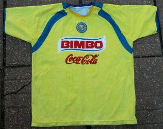 CA Club America Soccer Jersey L Large   Aguilas Coca Cola Bimbo Corona