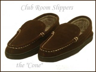 Club Room Cone Mens Slippers Chocolate Size Small 7 8