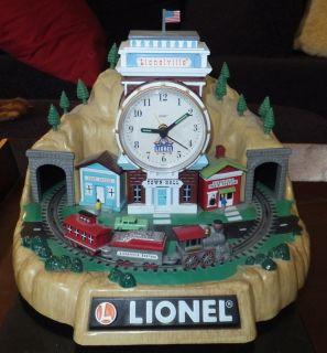 100th Anniversary Lionel Running Train Animated Mantel Alarm Clock