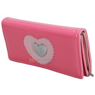 Wallet Purse Lady Clutch Handbag Double Heart Card Coin Bag 687