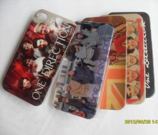 pcs New One Direction 1D Clear Side Hard Back Case for iphone 4 4S L06