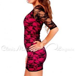 Cloris Murphyn Women Sexy One Shoulder Lace Dress BD238 PK