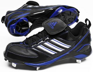 Diamond King 9 Low Mens Baseball Cleats Black Blue Metal Studs