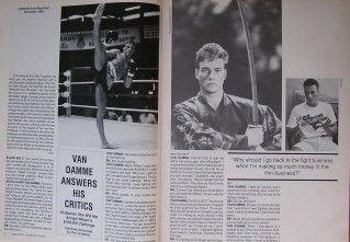 1991 Black Belt Yearbook Jean Claude Van Damme Cat Yamaguchi Karate