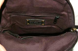 Claudio Ferrici Brown Leather Shoulder Bag Hobo Style Purse Handbag