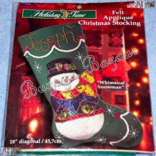 Bucilla Whimsical Snowman Felt Christmas Stocking Kit