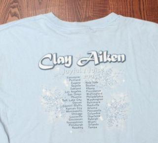 Clay Aiken 2005 Joyful Noise American Idol Tour Authentic Blue Large T