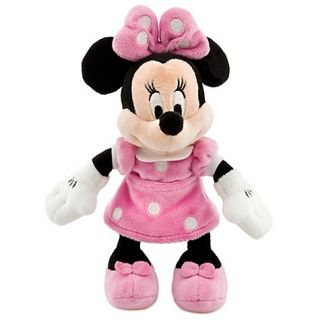 Disney Authentic Pink Minnie Mouse Plush 9 Tall Polka Dot Toy Doll