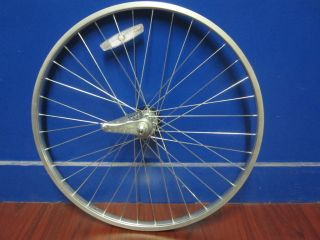 26 inch Silver Alloy Rear Wheel w coaster brake beach cruiser bicycles