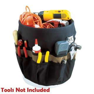 name clc 1117 5 gallon 30 pocket outside bucket tool bag includes clc