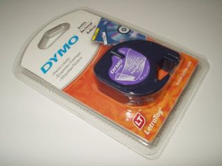 Dymo Letra Tag CLEAR Plastic Labels 1/2 X 13 (12mm X 4m) DYMO 16952