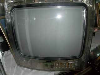 13 Inch Vintage RCA Clear Plastic Prison Jail Tube Television