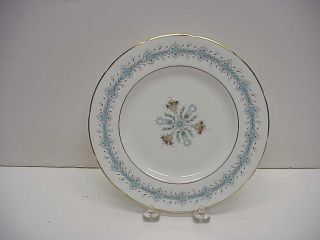 Coalport Geneva Hand Painted Gold Trimmed Bone China Salad Plates