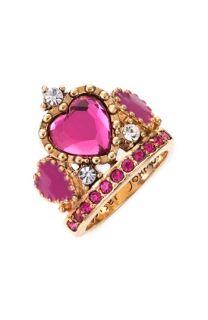 Betsey Johnson Varsity Crush Tiara Ring