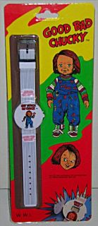 RARE Vintage Childs Play Scary Chucky Good Guy Doll Wristwatch Mint