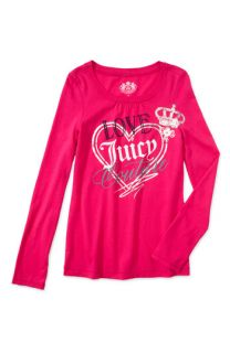Juicy Couture Raw Edge Logo Tee (Toddler & Little Girls)