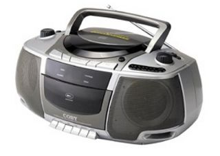 Coby Portable Stereo CD Cassette Player AM FM Radio Boombox Dual
