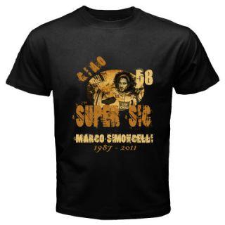 New Vintage Ciao Super SIC Rip Marco SIMONCELLI Black T Shirt Size s M