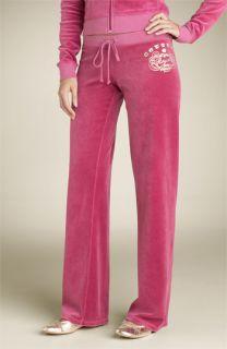 Juicy Couture Foil Logo Velour Pants