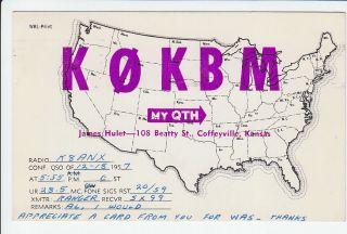 K0KBM Jim James Hulet Coffeyville Kansas KS Montgomery County