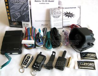New Clifford Matrix 12 5X 2 Way Pager Car Alarm Security System