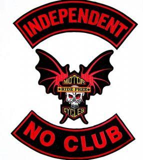 Independent No Club Biker Vietnam Patch Set 11