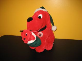 Santa Clifford the big red dog plush stuff animal