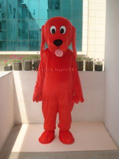 New Red Clifford Dog Mascot Costume Fancy Dress Adult