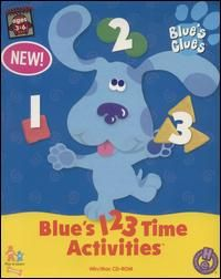 Blues Clues Blues 123 Time Activities PC MAC CD learn numbers clock
