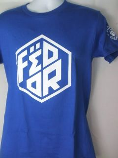 Fedor Emelianenko Clinch Gear Royal Blue Patch T Shirt