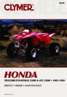 Clymer Repair Service Manual Honda ATC250R TRX250R 85 89