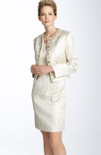 Patra Metallic Brocade Sheath Dress, Jacket & Accessories